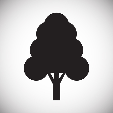 Tree icon on white background for graphic and web design, Modern simple vector sign. Internet concept. Trendy symbol for website design web button or mobile app Illusztráció