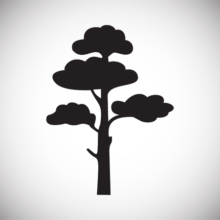 Tree icon on white background for graphic and web design, Modern simple vector sign. Internet concept. Trendy symbol for website design web button or mobile app Иллюстрация