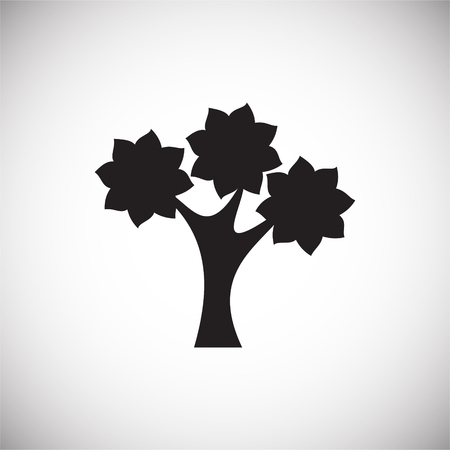 Tree icon on white background for graphic and web design, Modern simple vector sign. Internet concept. Trendy symbol for website design web button or mobile app Ilustração