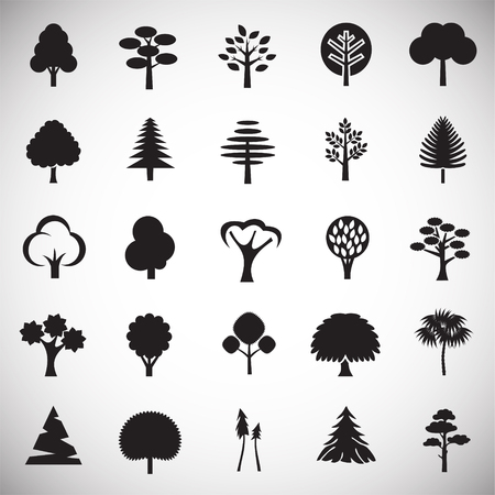 Trees icon set on white background for graphic and web design, Modern simple vector sign. Internet concept. Trendy symbol for website design web button or mobile app