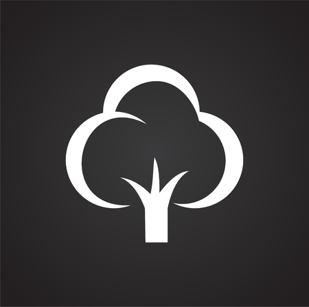 Tree icon on black background for graphic and web design, Modern simple vector sign. Internet concept. Trendy symbol for website design web button or mobile app Vetores