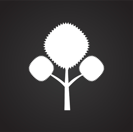 Tree icon on black background for graphic and web design, Modern simple vector sign. Internet concept. Trendy symbol for website design web button or mobile app