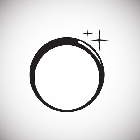 Ringsymbol auf weißem Hintergrund für Grafik- und Webdesign, modernes einfaches Vektorzeichen. Internet-Konzept. Trendiges Symbol für Website-Design-Web-Button oder mobile App
