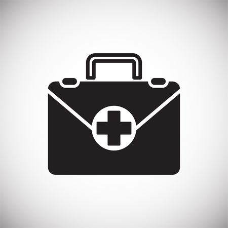 First aid kit icon on white background for graphic and web design, Modern simple vector sign. Internet concept. Trendy symbol for website design web button or mobile app Illusztráció