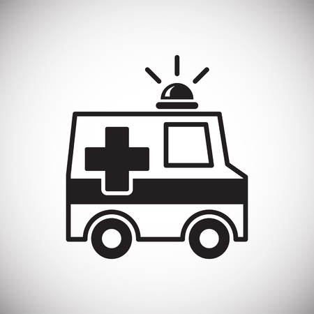 Emergency truck icon on white background for graphic and web design, Modern simple vector sign. Internet concept. Trendy symbol for website design web button or mobile app