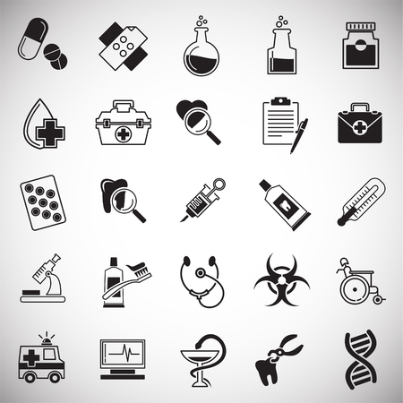 Medical icons set on white background for graphic and web design, Modern simple vector sign. Internet concept. Trendy symbol for website design web button or mobile app