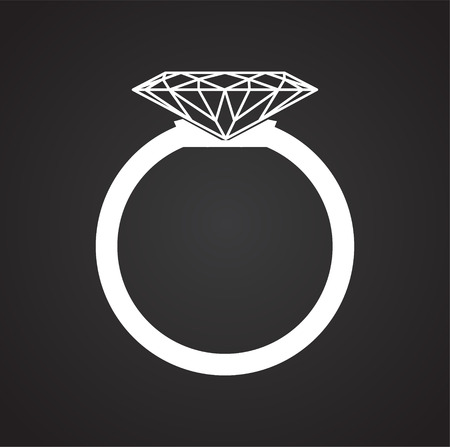 Ring icon on black background for graphic and web design, Modern simple vector sign. Internet concept. Trendy symbol for website design web button or mobile app Vektoros illusztráció