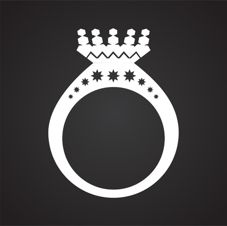 Ring icon on black background for graphic and web design, Modern simple vector sign. Internet concept. Trendy symbol for website design web button or mobile app