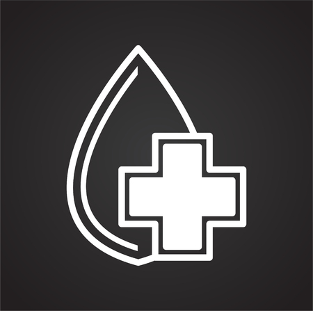 Medical cure symbol icon on black background for graphic and web design, Modern simple vector sign. Internet concept. Trendy symbol for website design web button or mobile app
