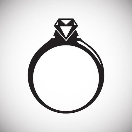 Ring icon on white background for graphic and web design, Modern simple vector sign. Internet concept. Trendy symbol for website design web button or mobile app Vektoros illusztráció