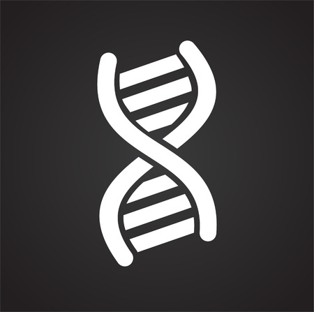 DNA RNA icon on black background for graphic and web design, Modern simple vector sign. Internet concept. Trendy symbol for website design web button or mobile app