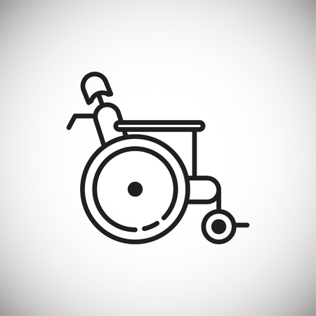 Wheelchair icon on white background for graphic and web design, Modern simple vector sign. Internet concept. Trendy symbol for website design web button or mobile app Banco de Imagens