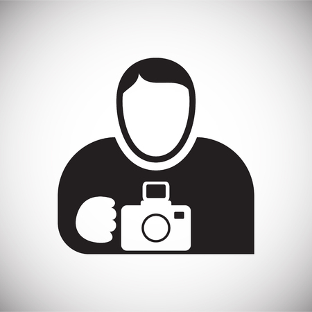 Photographer icon on white background for graphic and web design, Modern simple vector sign. Internet concept. Trendy symbol for website design web button or mobile Illustration