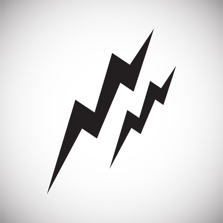 Lightning icon on white background for graphic and web design, Modern simple vector sign. Internet concept. Trendy symbol for website design web button or mobile