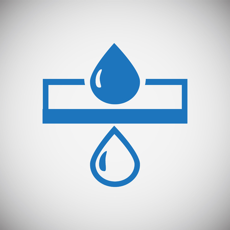 Water icon blue set on black background for graphic and web design, Modern simple vector sign. Internet concept. Trendy symbol for website design web button or mobile app 向量圖像