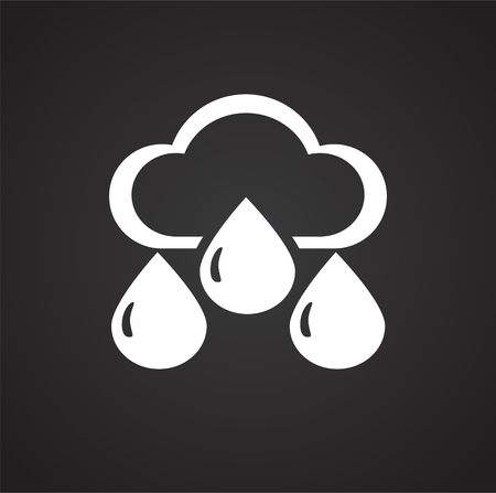 Water icon blue set on black background for graphic and web design, Modern simple vector sign. Internet concept. Trendy symbol for website design web button or mobile app Illustration