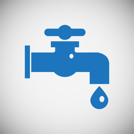 Water icon blue set on black background for graphic and web design, Modern simple vector sign. Internet concept. Trendy symbol for website design web button or mobile app 矢量图像