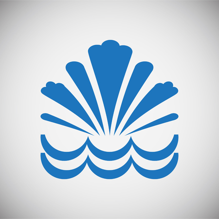 Water icon blue set on black background for graphic and web design, Modern simple vector sign. Internet concept. Trendy symbol for website design web button or mobile app Stockfoto