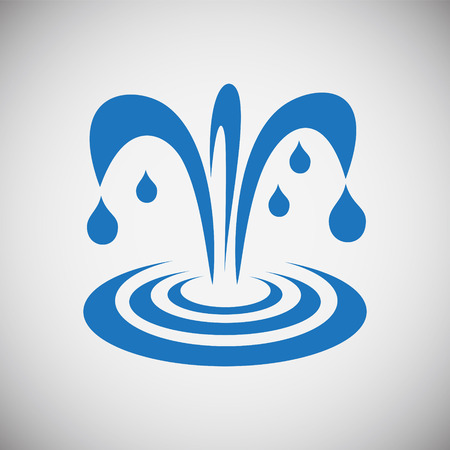 Water icon blue set on black background for graphic and web design, Modern simple vector sign. Internet concept. Trendy symbol for website design web button or mobile app Stok Fotoğraf
