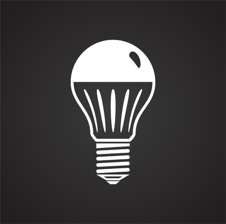 Lamp icon on black background for graphic and web design, Modern simple vector sign. Internet concept. Trendy symbol for website design web button or mobile app
