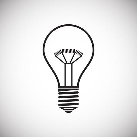 Icône de lampe sur fond blanc pour la conception graphique et web, simple signe vecteur moderne. Notion Internet. Symbole à la mode pour le bouton Web de conception de site Web ou l'application mobile