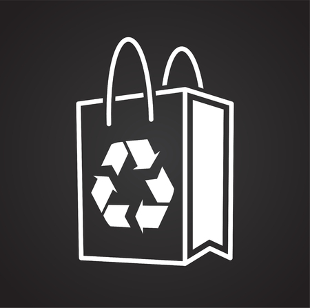 Ecology recycling icon on black background for graphic and web design, Modern simple vector sign. Internet concept. Trendy symbol for website design web button or mobile app