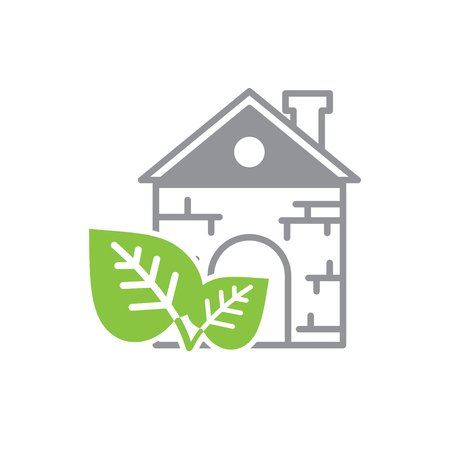 Ecology home icon on white background for graphic and web design, Modern simple vector sign. Internet concept. Trendy symbol for website design web button or mobile app