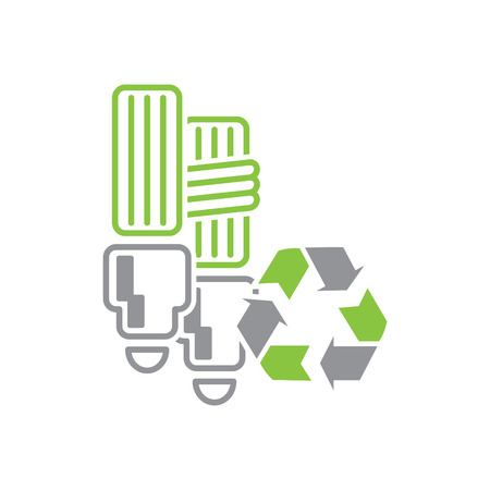 Ecology recycling icon on white background for graphic and web design, Modern simple vector sign. Internet concept. Trendy symbol for website design web button or mobile app Vettoriali