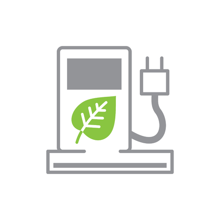 Ecology fuel icon on white background for graphic and web design, Modern simple vector sign. Internet concept. Trendy symbol for website design web button or mobile app