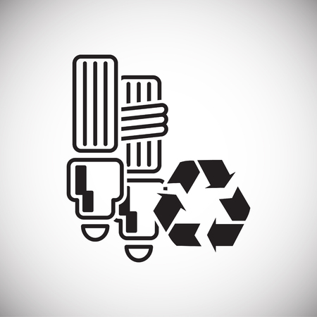 Ecology recycling icon on white background for graphic and web design, Modern simple vector sign. Internet concept. Trendy symbol for website design web button or mobile app