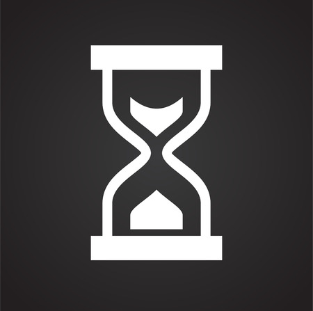 Time icon on black background for graphic and web design, Modern simple vector sign. Internet concept. Trendy symbol for website design web button or mobile app