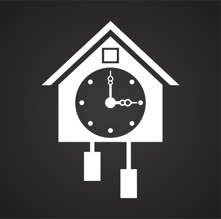 Time icon on black background for graphic and web design, Modern simple vector sign. Internet concept. Trendy symbol for website design web button or mobile app Illustration