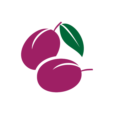 Fruit color icon on white background for graphic and web design, Modern simple vector sign. Internet concept. Trendy symbol for website design web button or mobile app Vetores