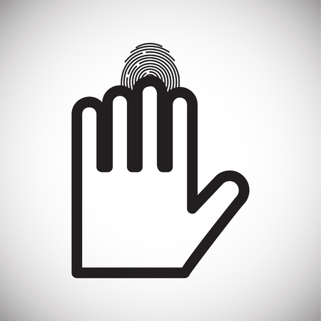 Finger id icon on white background for graphic and web design, Modern simple vector sign. Internet concept. Trendy symbol for website design web button or mobile app