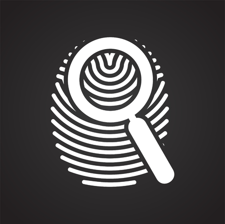 Finger id icon on black background for graphic and web design, Modern simple vector sign. Internet concept. Trendy symbol for website design web button or mobile app