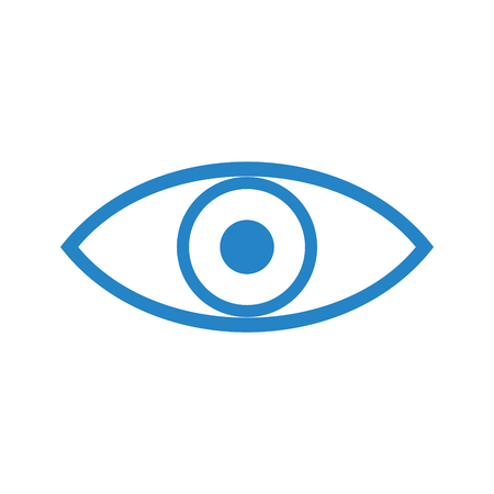 Eye icon on white background for graphic and web design, Modern simple vector sign. Internet concept. Trendy symbol for website design web button or mobile app