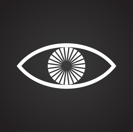Eye icon on black background for graphic and web design, Modern simple vector sign. Internet concept. Trendy symbol for website design web button or mobile app 일러스트