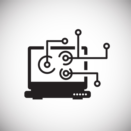 IT engineering icon on white background for graphic and web design, Modern simple vector sign. Internet concept. Trendy symbol for website design web button or mobile app Illusztráció