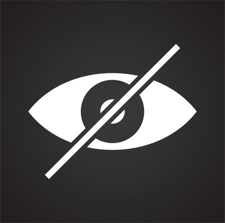 Eye icon on black background for graphic and web design, Modern simple vector sign. Internet concept. Trendy symbol for website design web button or mobile app