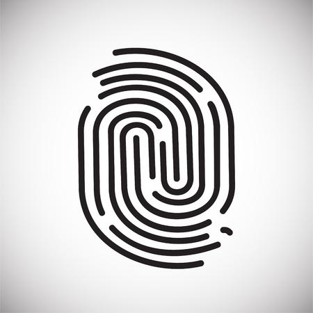 Icono de identificación de dedo sobre un fondo blanco para diseño gráfico y web sencillo, moderno, signo de vectores. Concepto de internet. Símbolo de moda para el botón web de diseño de sitios web o aplicaciones móviles Ilustración de vector