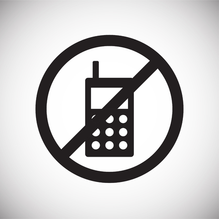 No cellphone allowed icon on white background for graphic and web design, Modern simple vector sign. Internet concept. Trendy symbol for website design web button or mobile
