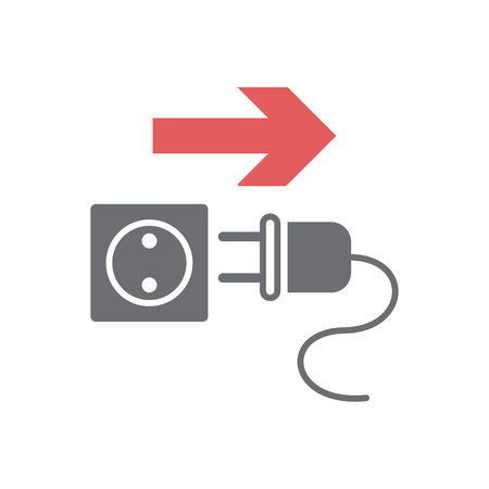 Unplug safety icon on white background for graphic and web design, Modern simple vector sign. Internet concept. Trendy symbol for website design web button or mobile 向量圖像