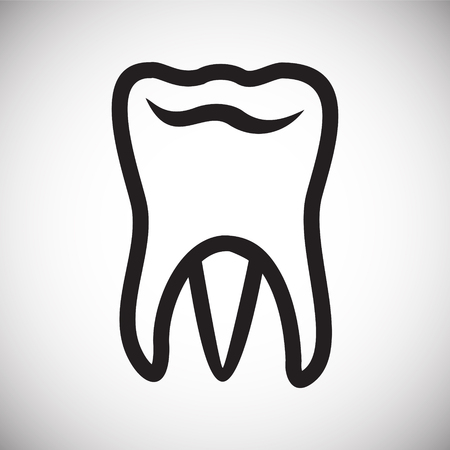 Tooth icon on white background for graphic and web design, Modern simple vector sign. Internet concept. Trendy symbol for website design web button or mobile app Illustration