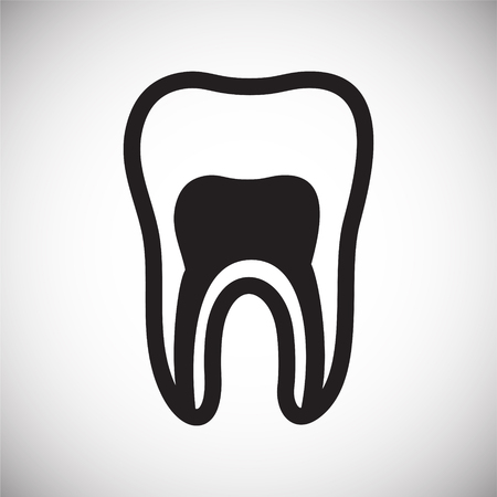 Tooth icon on white background for graphic and web design, Modern simple vector sign. Internet concept. Trendy symbol for website design web button or mobile app Stock Photo