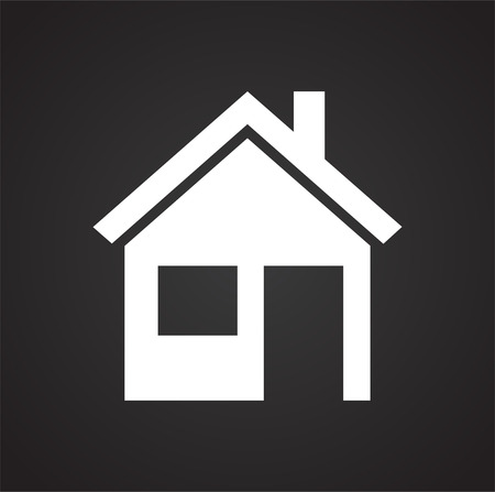 Home icon on black background for graphic and web design, Modern simple vector sign. Internet concept. Trendy symbol for website design web button or mobile app
