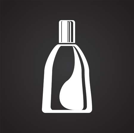 Bottle icon on black background for graphic and web design, Modern simple vector sign. Internet concept. Trendy symbol for website design web button or mobile app