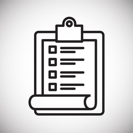 Icono de lista de compras en línea sobre fondo blanco para diseño gráfico y web sencillo, moderno, signo de vectores. Concepto de internet. Símbolo de moda para el botón web de diseño de sitios web o aplicaciones móviles