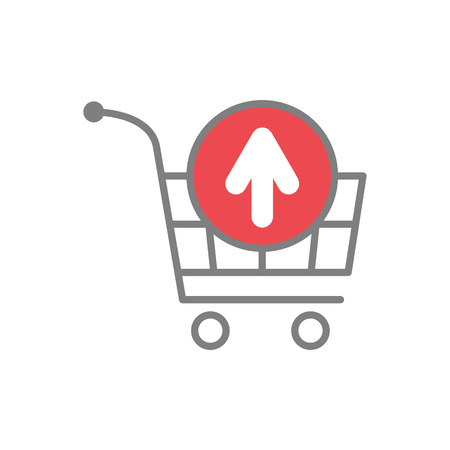 Online shopping cart remove icon on white background for graphic and web design, Modern simple vector sign. Internet concept. Trendy symbol for website design web button or mobile app