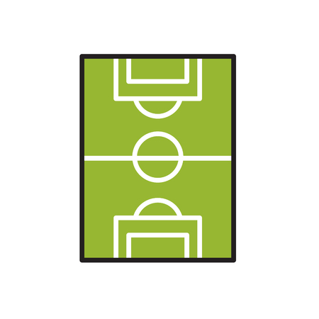 Soccer field icon on white background for graphic and web design, Modern simple vector sign. Internet concept. Trendy symbol for website design web button or mobile app Иллюстрация