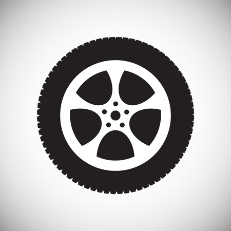 Wheel icon on white background for graphic and web design, Modern simple vector sign. Internet concept. Trendy symbol for website design web button or mobile app